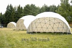 Geodesic dome  - kupolai - pavės- scenos  renginaims