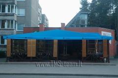 4   Tentinis stogas su reklaminiais  piešiniais
